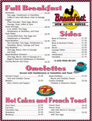 Full Breakfast - Springfield Royal Diner Menu